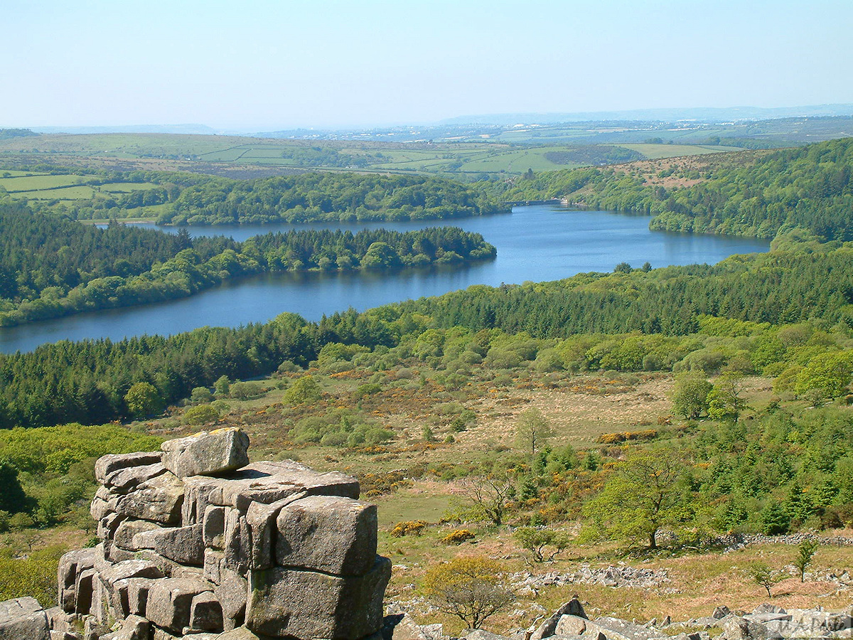Burrator Reservoir seen from Leather Tor