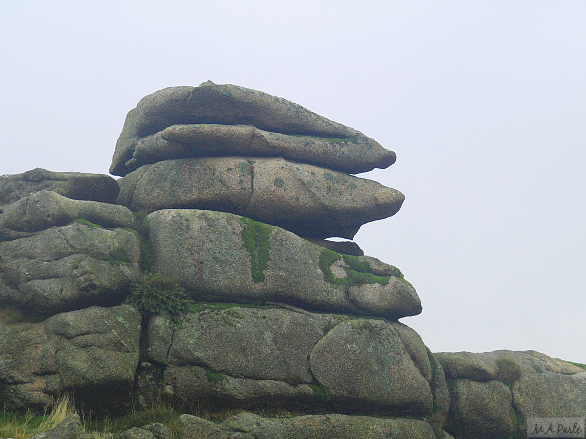 Mick Jagger's Lips on the top of Little Trowlesworthy Tor
